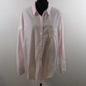 Athleta Marinwood Pink Stripe Button Down Shirt